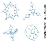 set of glass molecules on white | Shutterstock . vector #370458008