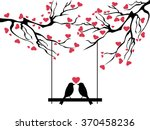 love bird tree | Shutterstock .eps vector #370458236