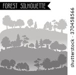 horizontal banners  forest in a ... | Shutterstock .eps vector #370458566