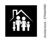 family and house icon | Shutterstock .eps vector #370464080