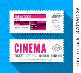 cinema movie ticket card modern ... | Shutterstock .eps vector #370464536