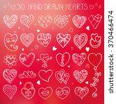 heart icons set.valentine... | Shutterstock .eps vector #370466474