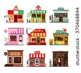 cool set of detailed flat... | Shutterstock .eps vector #370468844