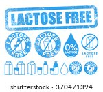 lactose free | Shutterstock .eps vector #370471394