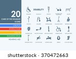 set of people with disabilities ... | Shutterstock .eps vector #370472663