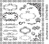 victorian swirl elements set is ... | Shutterstock .eps vector #370478483