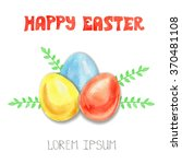 happy easter greeting card... | Shutterstock .eps vector #370481108