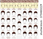 a set of mens hairstyles for... | Shutterstock .eps vector #370483229