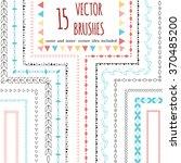 vector decorative scribble... | Shutterstock .eps vector #370485200