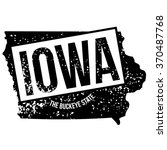 rubber stamp of iowa  the... | Shutterstock .eps vector #370487768