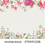 watercolor background with... | Shutterstock . vector #370491338