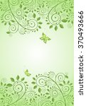 spring green decorative floral... | Shutterstock . vector #370493666