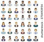 young business people icons set | Shutterstock .eps vector #370493954