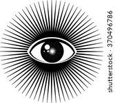 all seeing eye | Shutterstock .eps vector #370496786