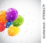 color glossy balloons...   Shutterstock .eps vector #370506179