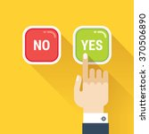 hand  finger pressing buttons... | Shutterstock .eps vector #370506890