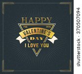 happy valentines day vintage... | Shutterstock .eps vector #370507094
