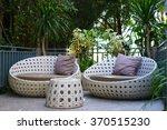 modern garden sofa or love seat ... | Shutterstock . vector #370515230