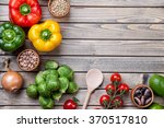 various vegetables fruits and... | Shutterstock . vector #370517810