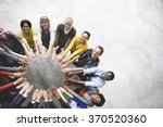 diverse people friendship... | Shutterstock . vector #370520360