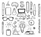 business icons hand drawn set. | Shutterstock .eps vector #370521278