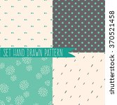 set of seamless patterns with... | Shutterstock .eps vector #370521458