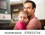 attractive young single dad... | Shutterstock . vector #370521716