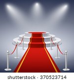 round podium with red carpet... | Shutterstock .eps vector #370523714