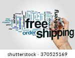 free shipping  word cloud | Shutterstock . vector #370525169