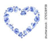 blue watercolor hydrangea... | Shutterstock . vector #370528958