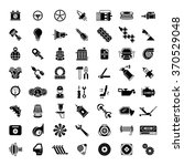 black car parts icons. gear for ... | Shutterstock .eps vector #370529048