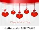 valentine greeting card with... | Shutterstock . vector #370529678