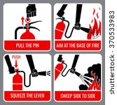 fire extinguisher vector... | Shutterstock .eps vector #370533983
