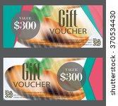 gift voucher certificate coupon ... | Shutterstock .eps vector #370534430