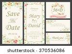 wedding invitation love and... | Shutterstock .eps vector #370536086