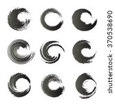 black ink circle brush strokes... | Shutterstock .eps vector #370538690