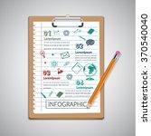 creative report  on notepaper ... | Shutterstock .eps vector #370540040