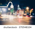 cctv camera on the road for... | Shutterstock . vector #370548104