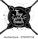 poster time for lunch  | Shutterstock .eps vector #370549718