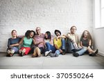 diverse cool people sitting