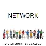 network system online internet...   Shutterstock . vector #370551320