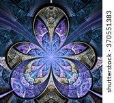 blue fractal flower  digital... | Shutterstock . vector #370551383