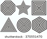 lines design.nested concentric... | Shutterstock .eps vector #370551470