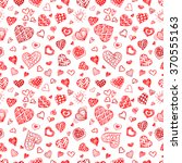 valentines day seamless vector... | Shutterstock .eps vector #370555163