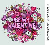 cartoon vector hand drawn... | Shutterstock .eps vector #370555250