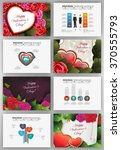 valentine's day vector set of... | Shutterstock .eps vector #370555793