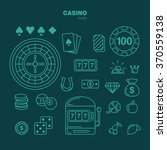 outline icons casino flat style.... | Shutterstock .eps vector #370559138