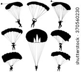 set skydiver  silhouettes... | Shutterstock .eps vector #370560230