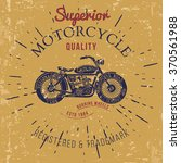 vintage motorcycle design for... | Shutterstock . vector #370561988