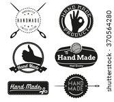 hand made design insignias... | Shutterstock .eps vector #370564280
